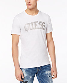 GUESS Men's Caviar Metallic Logo-Print T-Shirt
