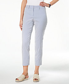 Tommy Hilfiger Striped Cropped Pants, Created for Macy's