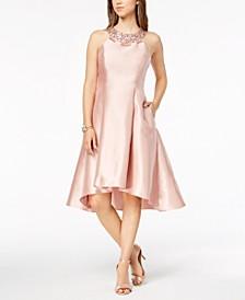 Rhinestone High-Low Dress