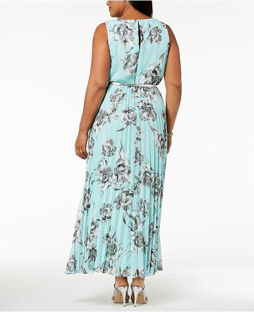 Jessica Howard Plus Size Pleated Maxi Dress Dresses Women Macys