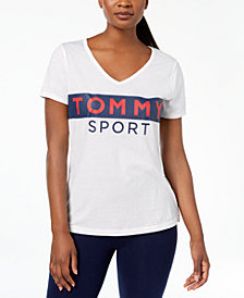 Tommy Hilfiger Logo-Print V-Neck T-Shirt, Created for Macy's