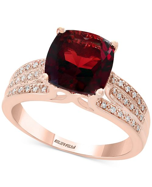 c1e1915df0d277 EFFY Collection EFFY Garnet (3-1 4 ct. t.w.) and Diamond (1 5 ct ...