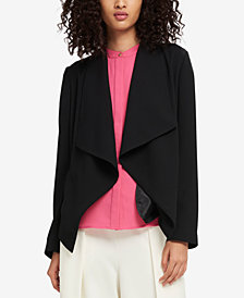 DKNY Draped Open-Front Jacket, Created for Macy's