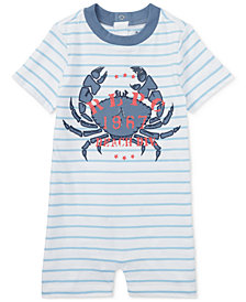 Polo Ralph Lauren Graphic Cotton Romper, Baby Boys
