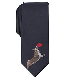 Bar III Men's Flying Corgi Tie, Created for Macy's