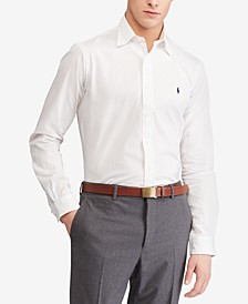 Men's Classic Fit Stretch Poplin Shirt, Regular & Big & Tall