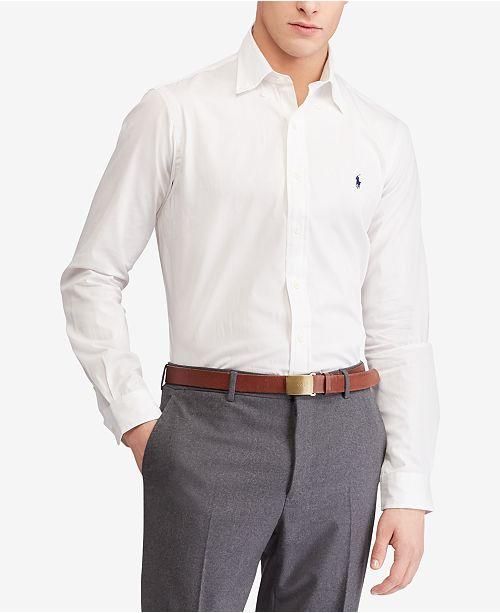 35042386 Men's Slim Fit Poplin Stretch Shirt