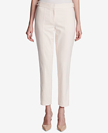 Calvin Klein Straight-Leg Ankle Pants, Regular & Petite