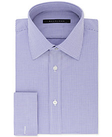 Sean John Men's Classic/Regular Fit Purple French Cuff Dress Shirt