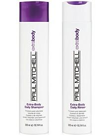 Extra-Body Daily Shampoo & Rinse (Two Items), 10.14-oz., from PUREBEAUTY Salon & Spa