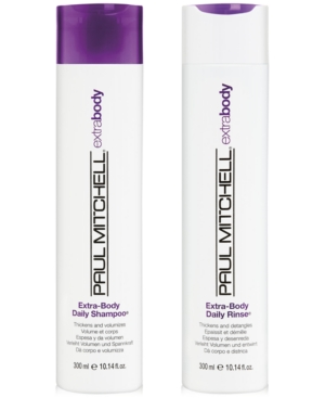Paul Mitchell Extra-Body Daily Shampoo & Rinse (Two Items), 10.14-oz, from Purebeauty Salon & Spa