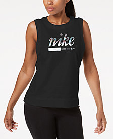 Nike Sportswear Cotton Metallic-Logo Tank Top