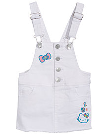 Hello Kitty Baby Girls Denim Overall Jumper