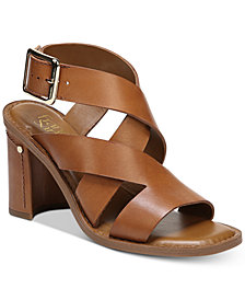 Franco Sarto Cymbal Strappy Block-Heel Dress Sandals