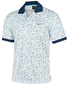 Greg Norman for Tasso Elba Men's Ditsy Floral-Print Polo, Created for Macy's