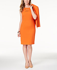 Kasper Cutout Sheath Dress, Regular & Petite