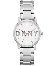 DKNY Women's SoHo Stainless Steel Bracelet Watch 34mm, Created for Macy's