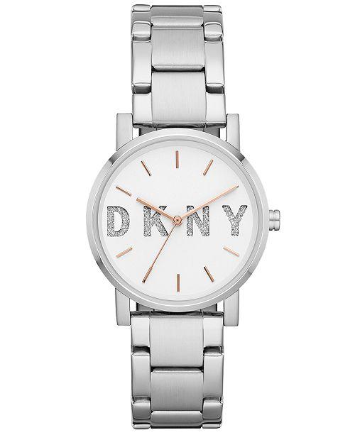 DKNY Women's SoHo Stainless Steel Bracelet Watch 34mm, Created for Macy's