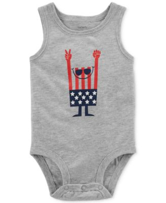 Graphic-Print Cotton Bodysuit, Baby Boys