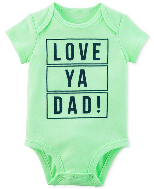 c424cf34 Carter's Baby Boys Love Dad Graphic-Print Bodysuit - All Baby - Kids ...
