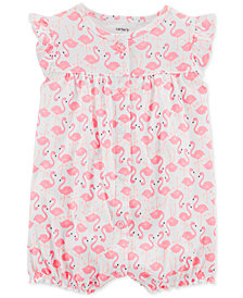 Carter's Baby Girls Flamingo-Print Cotton Romper