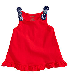 First Impressions Flounce Cotton Top, Baby Girls, Created for Macy's