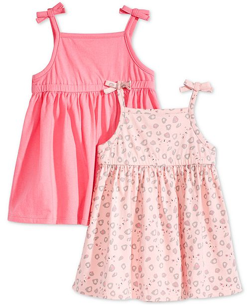 2-Pack Cotton Sundresses, Baby Girls, Created for Macy's