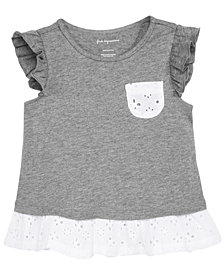 First Impressions Baby Girls Eyelet Cotton T-Shirt, Created for Macy's