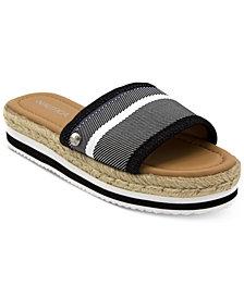 Nautica Tidegate Slip-On Espadrille Flatform Sandals
