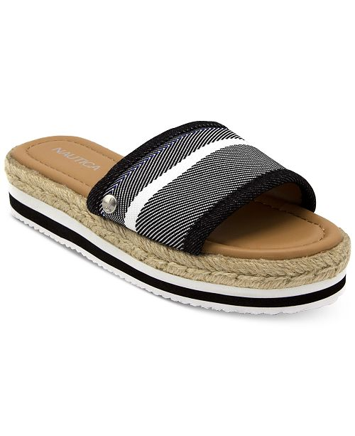 Nautica Tidegate Slip-On Espadrille Flatform Sandals Women's Shoes yp6qFMZ0
