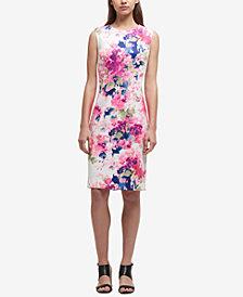 DKNY Printed Scuba Sheath Dress, Created for Macy's