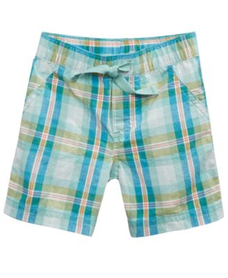 Plaid Cotton Shorts, Baby Boys, Created for Macy's