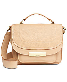 Calvin Klein Wendy Leather Top-Handle Small Crossbody