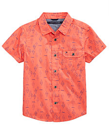 Tommy Hilfiger Cactus-Print Cotton Shirt, Big Boys