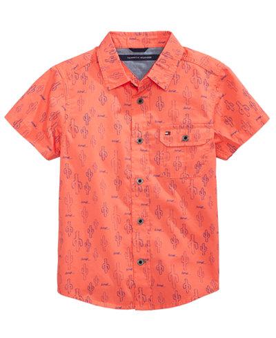 Tommy Hilfiger Cactus-Print Cotton Shirt, Toddler Boys