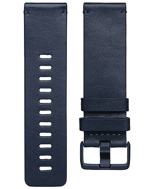 6a317c3fa ... Accessory Band; Fitbit Versa™ Midnight Blue Horween Leather  Accessory ...