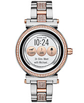 825015202f320 Michael Kors Access Women s Sofie Two-Tone   Pavé Stainless Steel Bracelet  Touchscreen Smart Watch