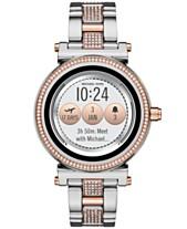 0ab9e3fac269 Michael Kors Access Women's Sofie Two-Tone & Pavé Stainless Steel Bracelet  Touchscreen Smart Watch