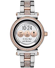 Michael Kors Access Women's Sofie Two-Tone & Pavé Stainless Steel Bracelet Touchscreen Smart Watch 42mm