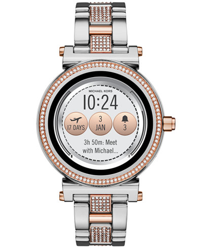 Stainless Steel Bracelet Touchscreen Smart Watch <table align='center'> <tr><th>Size:42mm</th></tr><tr><td>$395.00</td></tr></table>