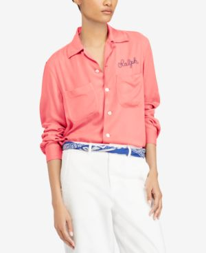 EMBROIDERED TWILL SHIRT
