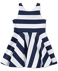 Polo Ralph Lauren Striped Fit & Flare Dress, Little Girls