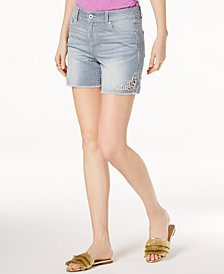 I.N.C. Railroad-Stripe Shorts, Created for Macy's