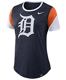 Nike Women's Detroit Tigers Tri-Blend Crew T-Shirt