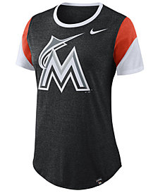 Nike Women's Miami Marlins Tri-Blend Crew T-Shirt