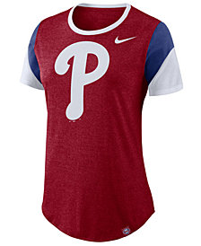 Nike Women's Philadelphia Phillies Tri-Blend Crew T-Shirt