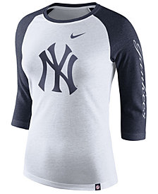 Nike Women's New York Yankees Tri-Blend Raglan T-Shirt