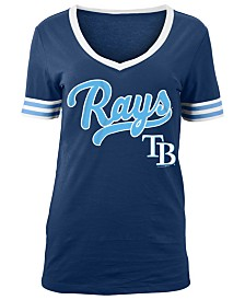 5th & Ocean Women's Tampa Bay Rays Retro V-Neck T-Shirt