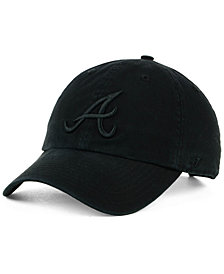 '47 Brand Atlanta Braves Black on Black CLEAN UP Cap