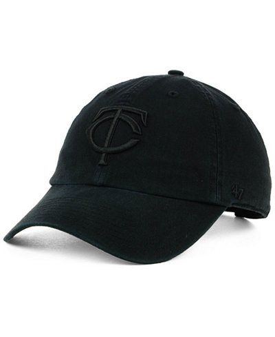 '47 Brand Minnesota Twins Black on Black CLEAN UP Cap